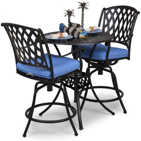 "Garden Classics® Series 7100 42"" Round Bar Table 3-Piece Set - The Backyard Bartender"