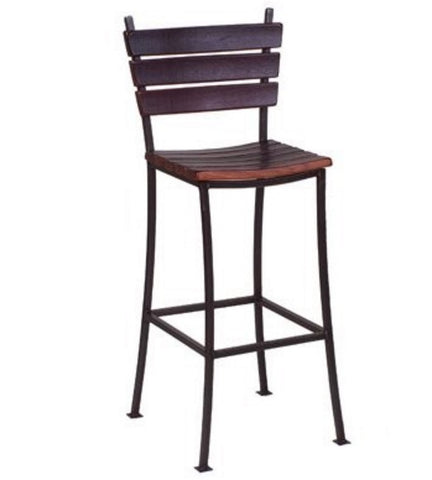 "2-Day Designs 30"" Stave Back Bar Stool - The Backyard Bartender"