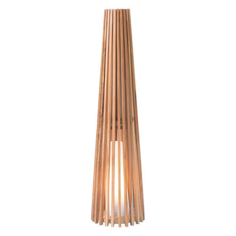 Cosima Medium Floor Lamp Natural Teak - The Backyard Bartender