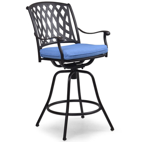 Garden Classics® Series 7100 Cast Aluminum Swivel Bar Chair - The Backyard Bartender