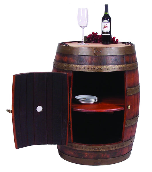 2-Day Designs Full Barrel Bar on Casters - The Backyard Bartender