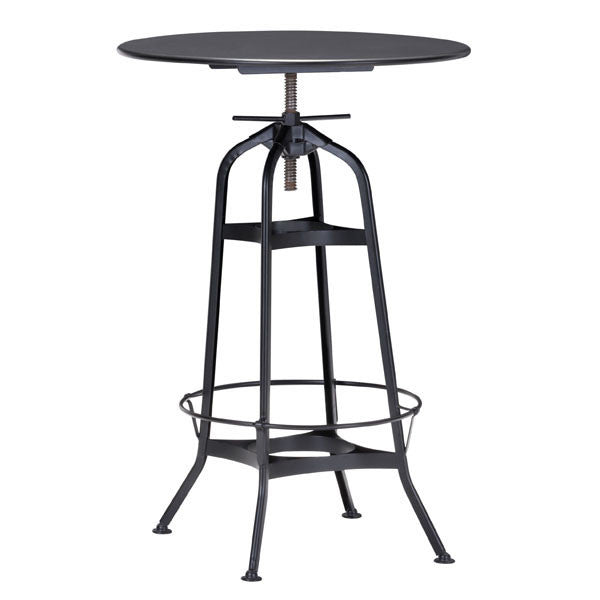 Spartan Bar Table Antique Black - The Backyard Bartender