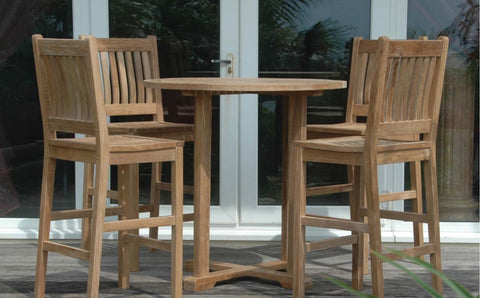 Anderson Teak Avalon 5-Piece Outdoor Bar Table SET-9 - The Backyard Bartender