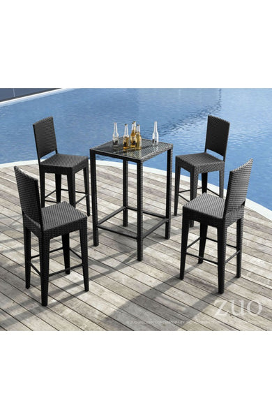 Anguilla 5 Piece Pub Table Set - The Backyard Bartender