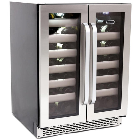 Whynter Elite 40 Bottle Seamless Stainless Steel Door Dual Zone Built-in Wine Refrigerator - The Backyard Bartender