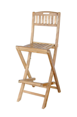 Anderson Teak Altavista Folding Bar Chair - The Backyard Bartender