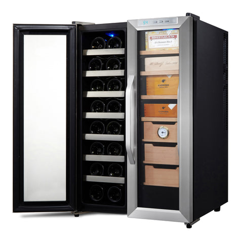 Whynter Freestanding 3.6 cu. ft. Wine Cooler and Cigar Humidor Center - The Backyard Bartender