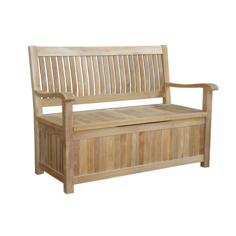 Anderson Teak Del-Amo Storage Bench BH-152SB - The Backyard Bartender