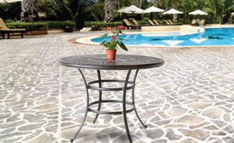 "Elizabeth 48"" Round Bar Table - The Backyard Bartender"