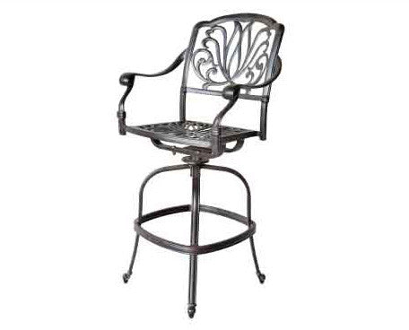 Elizabeth Swivel Bar Chair with Cushion - The Backyard Bartender