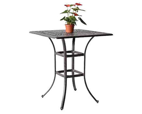"Elizabeth 36"" Square Bar Table - The Backyard Bartender"