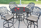 "Elizabeth 48"" Round Bar Table Set with 6 Bar Chairs (standard cushion) - The Backyard Bartender"