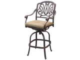 "Elizabeth 36"" Square Bar Table with 4 Bar Chairs (standard cushion) - The Backyard Bartender"