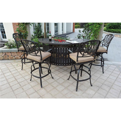 Elizabeth Party Bar Set with 4 Bar Chairs - The Backyard Bartender
