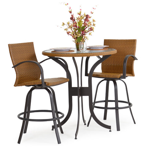 Garden Classics® Series 3200 3-Piece Round Bar Table Set with Chairs - The Backyard Bartender