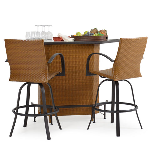 Garden Classics® Series 3200 3-Piece Outdoor Bar Set with Chairs - The Backyard Bartender