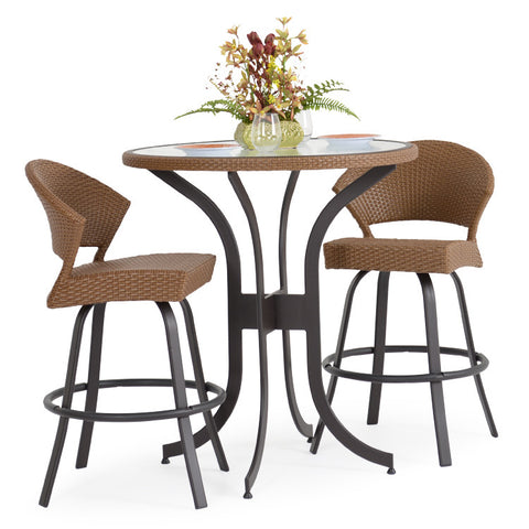 Garden Classics® Series 3200 3-Piece Round Bar Table Set with Stools - The Backyard Bartender
