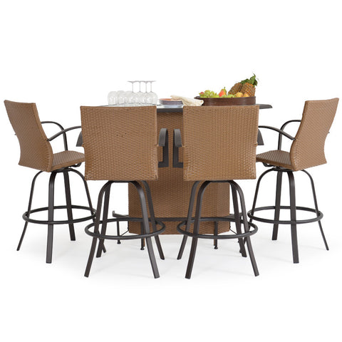 Garden Classics® Series 3200 5-Piece Outdoor Bar Set with Chairs - The Backyard Bartender