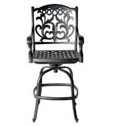 Mandalay Swivel Bar Chair with Cushion - The Backyard Bartender