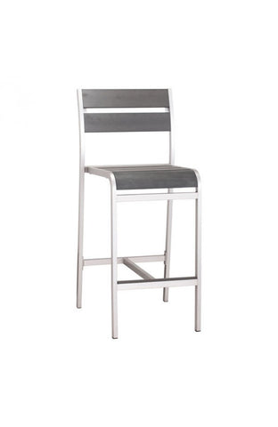 Megapolis Bar Stool Brushed Aluminum - Set of 2 - The Backyard Bartender