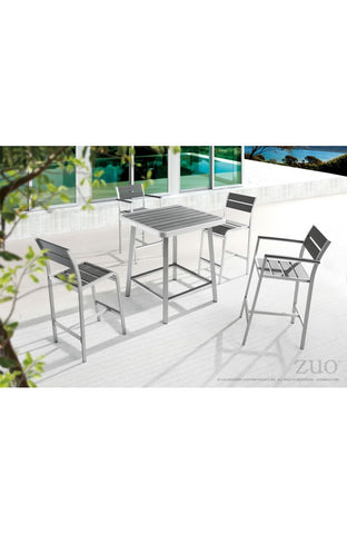 Megapolis 5 Piece Bar Table Set with Arm Chairs - The Backyard Bartender