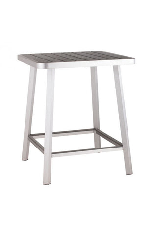 Megapolis Bar Table Brushed Aluminum - The Backyard Bartender