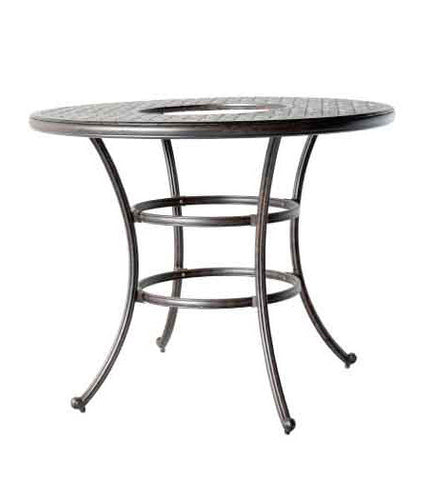 "Nassau 52"" Round Bar Table with Ice Bucket Insert - The Backyard Bartender"