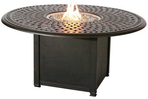 "Nassau 52"" Round Fire Pit Table - The Backyard Bartender"