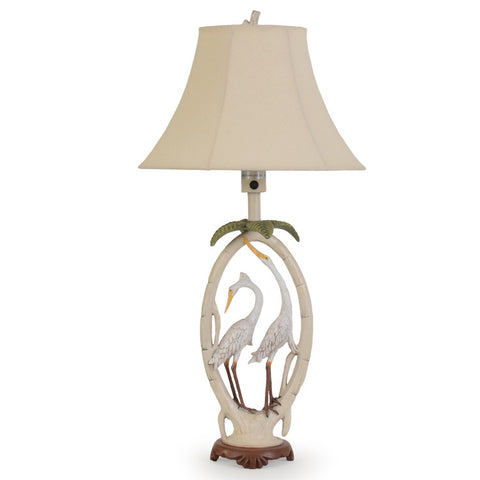 Double Egret Outdoor Table Lamp - The Backyard Bartender