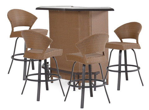 Garden Classics® Series 3200 5-Piece Outdoor Bar Set with Stools - The Backyard Bartender