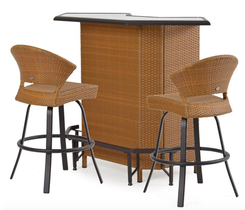 Garden Classics® Series 3200 3-Piece Outdoor Bar Set with Stools - The Backyard Bartender