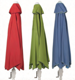 Palm Springs Rattan Garden Classics® 9' Polyester Push-Button Tilt Market Umbrella - The Backyard Bartender