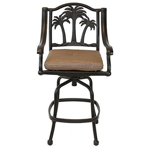 Palm Tree Swivel Bar Chair - The Backyard Bartender