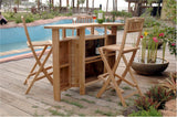 Anderson Teak Altavista 5 Piece Outdoor Bar SET-20 - The Backyard Bartender