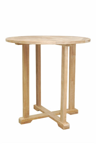 "Anderson Teak Bahama 39"" Round Bar Table TB-039BT - The Backyard Bartender"