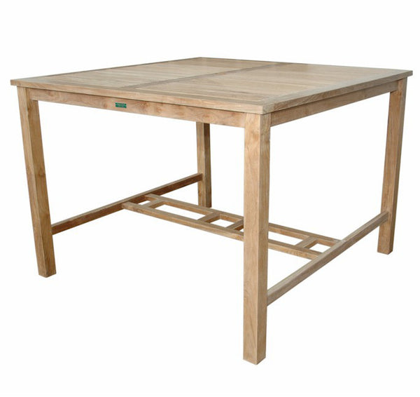 "Anderson Teak Windsor 59"" Square Big Bar Table TB-5959BT - The Backyard Bartender"