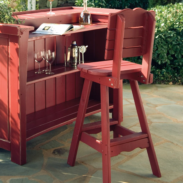 Uwharrie Chair Companion Series 3-Piece Outdoor Bar Set with Chairs - The Backyard Bartender