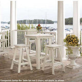 Uwharrie Chair Companion 3-Piece Outdoor Bar Table Set with Bar Chairs - The Backyard Bartender