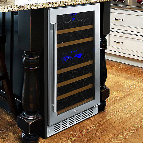Wine Enthusiast N'Finity Pro HDX 29 Dual Zone Wine Cellar - The Backyard Bartender