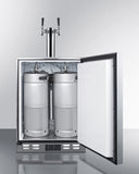Summit Outdoor Twin Tap Stainless Steel Built-In Kegerator SBC590OS - The Backyard Bartender