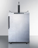 Summit Outdoor Kegerator with Diamond Plate Door SBC635MOSDPL - The Backyard Bartender