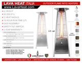 LHI-103 Patio Heater - Stainless Steel - Natural Gas - The Backyard Bartender