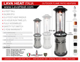 LHI-109 Patio Heater - Heritage Bronze - Natural Gas - The Backyard Bartender