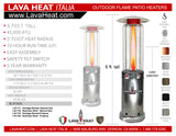 LHI-120 Patio Heater - Stainless Steel - Propane - The Backyard Bartender
