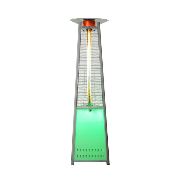 LHI-122 Patio Heater - LED Stainless Steel - Propane - The Backyard Bartender