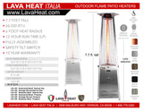 LHI-127 Patio Heater - Stainless Steel - Natural Gas - The Backyard Bartender