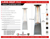 LHI-131 Patio Heater - Hammered Black - Natural Gas - The Backyard Bartender