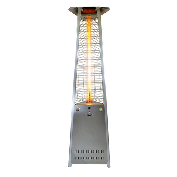 LHI-133 Patio Heater - Stainless Steel - Natural Gas - The Backyard Bartender