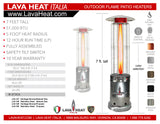 LHI-148 Patio Heater - Stainless Steel - Natural Gas - The Backyard Bartender