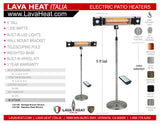 LHI-159 Patio Heater - Heritage Bronze - Electric - The Backyard Bartender